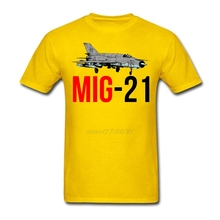 Men's Boy MIG 21 Jet Air Plane T Shirt MIG 21 Jet Air Plane Tee Shirts Short Sleeve Father's Day Custom Male Men