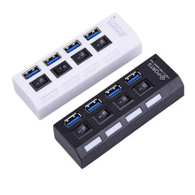 USB 3.0 Hub 4 Ports Super Speed 5gbps 5 portas Com on/off Switch Splitter Para Windows Mac os Linux PC Laptop preto - Toptec Store store