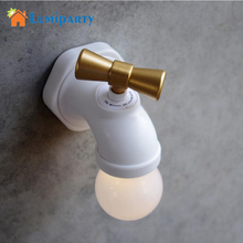 LumiParty 2017 Unique Water Tap Shape Lamp LED Antique Faucet Tap Long Time Night light Wall Rechargeable Voice Control(China)