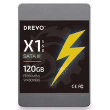 DREVO X1 SSD 120GB HDD Solid State Drive 2.5inch Hard Drive Disk SATAIII for PC Desktop Laptop + 3.5inch Case Mount Included(China)