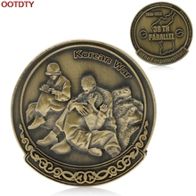 Coins Korean War 38th Parallel Commemorative Coin Military Challenge Art Collection #H0VH#