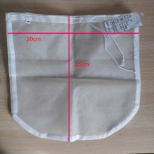 Free Shipping 2pc/lot Reusable Circular Coffee Filter Bag Malt Boil Filter Bag Wort Lauter Large Open For Hop Adding Homebrew