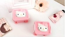 Super Mini Lovely Box Hello Kitty Pattern Boxes Small Items Storage Case Office Desktop Useful Tools Free Shipping