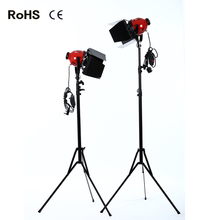 2*photography studio Photographic Equipment red 800w Light Spotlight Lighting for Studio Video+2.4m thicken light stand