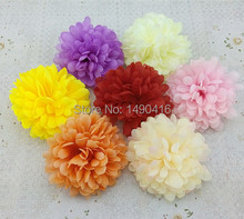10CM Artificial chrysanthemum Decorative Silk Flower Head For DIY Flower bouquet Home Decoration accessory props