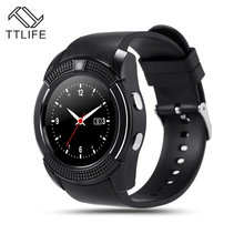 TTLIFE Brand New Original Blutooth Smart Watch V8 Support SIM TF Card Pedometer Remote Camera Anti-lost for IOS Andriod Phone