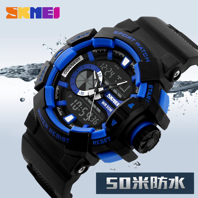 2017 New SKMEI Luxury Brand Men Military Sports Watches Dual Time Digital LED Quartz Fashion Casual Rubber Strap Wristwatches<br><br>Aliexpress