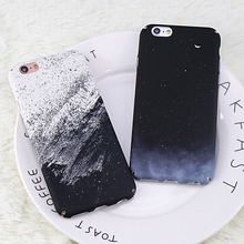 Buy iphone 6 case Black Starry Sky Moon Phone cover iphone 7 case Fashion White sand Hard PC Back cover iphone 8 case for $2.54 in AliExpress store