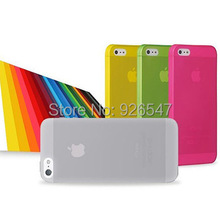 1 piece 0.3mm Ultra Thin Case for iPhone 5s Slim Matte Transparent Cover Case for iphone 5 cases Free shipping