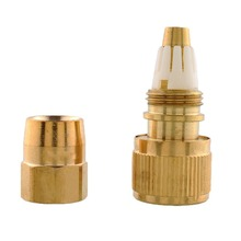 Brass Lawn Garden Water Tube Pipe Fitting Tap Fittings Retractable Hose Connector Copper Latex Tube(China)