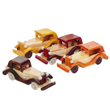 Handmade Wooden Retro Car Model Creative Vintage Car For Home Bedroom Decoration Child Toys FL(China)
