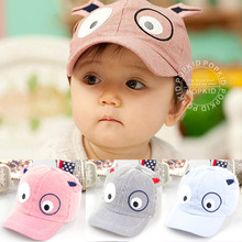 DreamShining Cartoon Dog Baby Hats Kids Boys Girls Cap Newborn Toddler Baseball Caps Summer Beret Sun Visor Hat Cap Accessories
