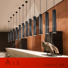 ARK LIGHT Dia 8cm black spot lamp Aluminum cannular warm color led Pendant Lamp TUBE Cylinder Shape LED hanging light bar lamp