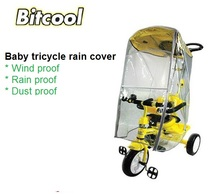 Bitcool Baby Stroller Rain Cover Kids Three Wheels Cart Rain Cover Children Tricycle Rain shade Trike Rain Protection Cover