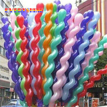 10pcs/lot 36 inch Screw Thread Latex Balloon Float Air Balls Inflatable Wedding Birthday Party Balloon Decoration Kid Toys JJ552(China)