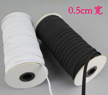 10m/lot 0.5cm DIY handmade accessories white black flat elastic band Stretch Rope Bungee Cord Strings diy garment accessories992