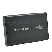 Aluminum External USB 2.0 2.5 IDE Enclosure Container Hard Disk Driver HDD Box Apapter Up To 500GB 1TB 480mbps Optibaly