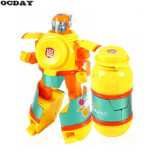 OCDAY 5pcs Deformation Robots Model Play Toy Food Transformation Robot Action Figure Puzzle Toys For Children Birthday Xmas Gift(China)