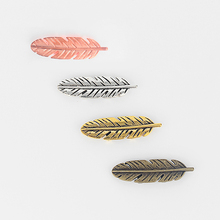 5 Pcs Large Feather Leaf Slider Spacers Findings For 5mm 10mm Flat Leather Cord Jewellery Making(China)
