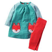 Kidsalon Girls Clothes Winter Long Sleeve Toddler Girl Clothing Sets Cute Animal Appliques Tracksuit for Girls Christmas Outfits(China)