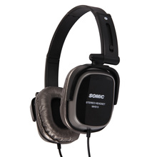 Somic MH513 3.5mm Jack Collapsible Headband Headset Wired Headphones with Microphone and Voice Control Function