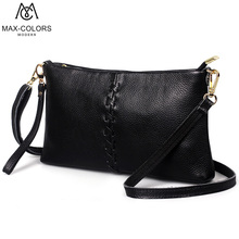 MC Women Bag Shell Bag Genuine Leather Handbag Patchwork Evening Bags Strap Ladies Tote Female Crossbody Party knitting Bags(China)