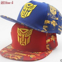 3-8 Years New Fashion Print Transformers Design Outdoors  Causal Children Baseball Caps  Snapback Caps  Hip Hop Hats