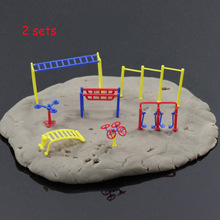 GY10100 GY10075 2sets Fitness Gym Equipment Model Chinese Construction Educational 1:100 1:75 TT OO Scale