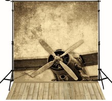 Wood Aircraft Vintage Airplane photo studio background High-quality Vinyl cloth Computer printed children kids backdrop