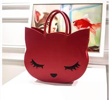 Hot sales! women's handbag autumn and winter large bag casual cat cartoon cat bag handbag