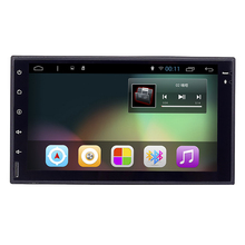 Quad Core 1024*600 Android 6.0 os 7inch 2 din 2 Car PC Tablet Universal GPS Navigation Radio Stereo Video Player( No DVD)