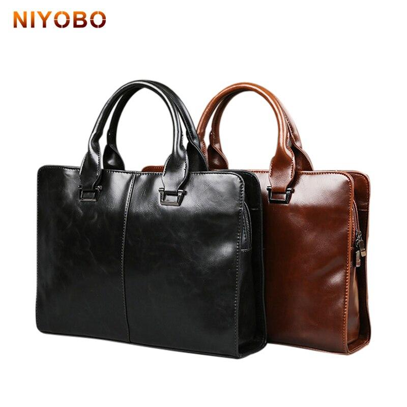 2017 New Man Handbag PU Leather Business Document Messenger Bag Casual Cow Leather Men Shoulder Bag Maleta Briefcase PB04<br>