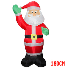 1.8m 6feet Inflatable Santa Claus With Green Hands Yard Christmas Decoration