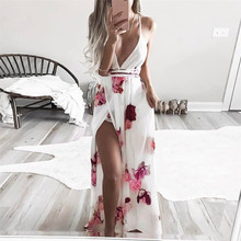 Buy New Style Women Summer Sexy Boho Floral Long Dress Beach Dress Sundress Sexy Fashion Hot Sales Dresses Wolovey#30 for $13.44 in AliExpress store