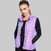 16 Color Plus Size 2015 Autumn Winter Sleeveless Jacket Female Ultra light Duck Down Vest Women Parkas Mujer XXXL YB838(China)