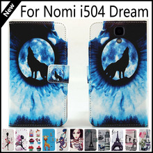 For Nomi i504 Dream Wallet Card Slots Book Style Flip PU Leather Case Cover Phone Case Fashion !