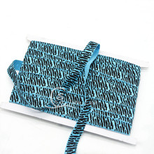 25YARDS / lot Turquoise Zebra printed color headbands Fold Over Elastic Hairbandsin GOOD quality Girl Hair Accessory