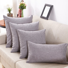 Pillowcases Linen Simple Style Home Seat Bedding Cushions Cover Flax Pillow Cases Cafe Office Decorative 4Sizes High Quality(China)