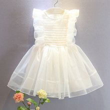 2017 Summer Girls Princess Dress White Color Little Girls Dresses Vestidos Infantil Kids Costume Clothes Girl Easter Party Dress(China)