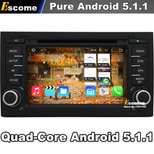 Pure Android 5.1 Car DVD Gray color for AUDI A4 2002 2003 2004 2005 2006 2007 S4 RS4 8E 8F B9 B7 RNS-E With Quad Core 2G ROM