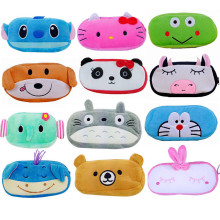 Hot Sale 1 Piece Cute Cartoon Plush Pencil Case Kawaii Large Size School Pencil Box Animals Stationery Fashion Pen Bag For Kids