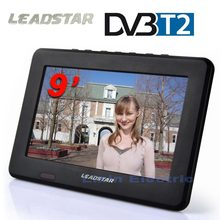 HD Digital DVB-T2/T 9 Inch Digital And Analog TV Receiver And TF Card And USB Audio Video Playback Portable DVB-T2 Television