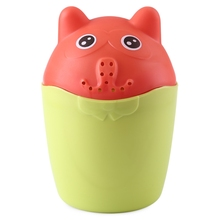 Baby Contrast Cute Bear PP Rinser Kids Children Shower Spoon Baby Tubs Bath Wash Cup Shampoo Cup Splashing Cup for Washing Head(China)