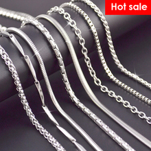 Buy Wholesale 10Pcs/Lot Snake Chain Necklace Women Long Chains 925 Sterling Silver Necklace Collier Femme Charm Fashion Jewelry for $4.88 in AliExpress store