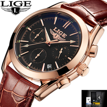 Buy Relogio Masculino LIGE Watches Men Luxury Brand Fashion Business Quartz Watch Men Waterproof Sport Military Leather Wristwatches for $17.99 in AliExpress store