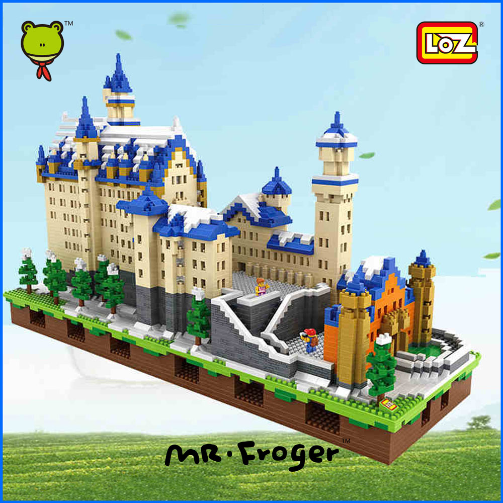 Mr.Froger LOZ Schloss Neuschwanstein New Swan Stone Castle Snow White Castle Diamond Block Minifigures Building Blocks Creator<br><br>Aliexpress