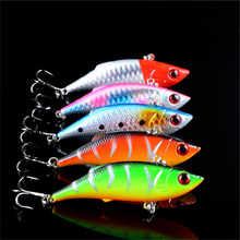 5pcs lot winter fishing lures hard bait VIB with lead inside lead fish ice sea fishing tackle swivel jig wobbler lure 7cm/10g(China)