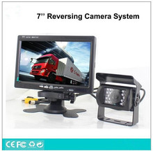 "12V-24V Vehicle bus truck parking reversing assistant system,7"" lcd monitor+night vision truck reverse backup camera Assistance"