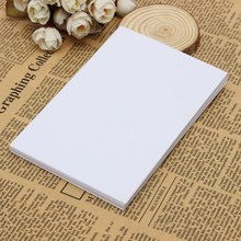 Kicute 50pcs New White Adhesive Printer Paper A4 Self Adhesive Glossy Paper Label Sticker for Laser and Inkjet Printers Supply