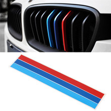 3 Color Front Grille Grill Vinyl Strip Sticker Decal For BMW M3 M5 E46 E60 E90(China)